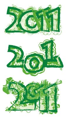 Free 2011 Green Logo Royalty Free Stock Images - 16486089