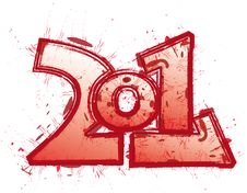 Free 2011 Funny Red Logo Stock Image - 16486101