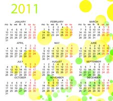 Free Calendar 2011 Stock Images - 16486474