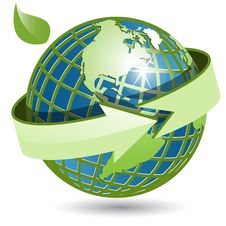 Free Globe And Green Arrow Stock Images - 16486514