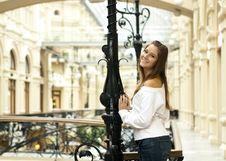 Free Girl On The Bridge Royalty Free Stock Photography - 16486697