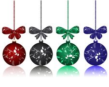 Free Christmas Balls With Bows Royalty Free Stock Image - 16487306