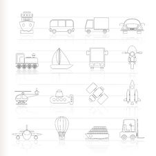 Free Transportation, Travel And Shipment Icons Royalty Free Stock Images - 16487369