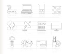 Free Business, Technology  Communications Icons Stock Images - 16487394