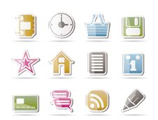 Internet And Website Icons Royalty Free Stock Photo