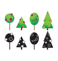 Free Christmas Trees Icons Royalty Free Stock Image - 16487626