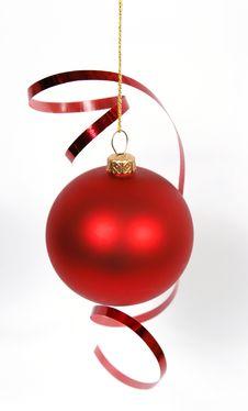Free Red Christmas Ball Stock Photography - 16488082