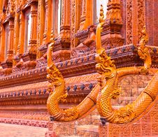 Free Nagas Stair Statue At Thai Temple Stock Photography - 16488252