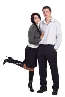 Free Couple Man Woman Together Isolated Royalty Free Stock Image - 16488296