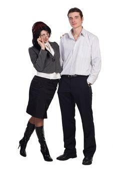 Free Couple Man Woman Together Isolated Royalty Free Stock Images - 16488309
