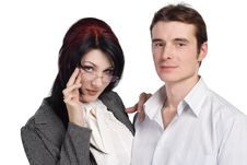 Free Couple Man Woman Together Isolated Stock Photography - 16488322