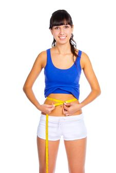 Free Woman Measuring Her Waist Stock Photography - 16488402