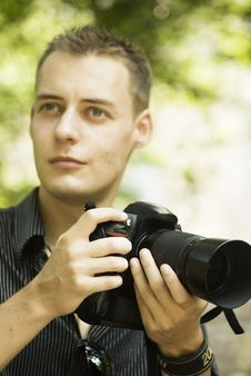 Free Young Photographer Stock Photo - 16488970