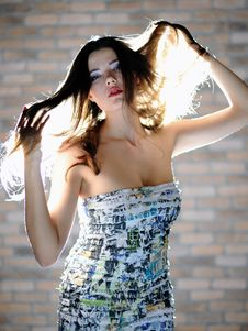 Young Sexy Woman With Long Healthy Hair Stock Image
