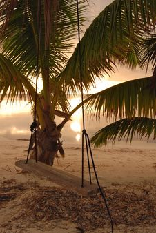 Free Swing At Sunrise On Coast Of Belize Royalty Free Stock Images - 16489239