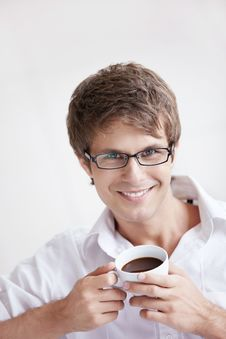 Free Portrait Of A Man With Coffee Stock Photos - 16489473