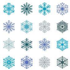 Free Snowflakes On White Background Royalty Free Stock Photo - 16489665