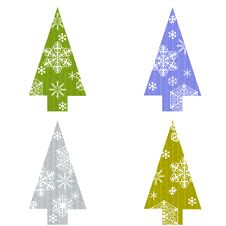 Free Christmas Tree With Snowflakes Stock Images - 16489684