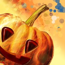 Free Halloween Symbol-Pumpkin Stock Image - 16489911