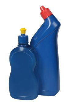 Free Plastic Bottle A Spray With The Blue Cleaner Stock Photo - 16489930