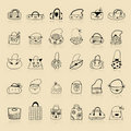 Free Collection Of Bags, Sketch Drawing For Your Design Royalty Free Stock Photo - 16494215