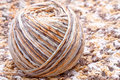 Free Striped Beige Tangle Of Yarn Royalty Free Stock Images - 16497829