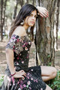 Free Posing On The Forest Royalty Free Stock Photos - 16498158