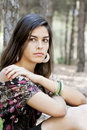 Free Posing On The Forest Royalty Free Stock Photography - 16498337