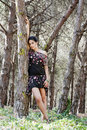 Free Posing On The Forest Royalty Free Stock Images - 16498929
