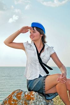 Free Attractive Woman Stewardess Royalty Free Stock Photo - 16490605