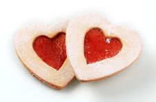 Free Heart Shaped Shortbread Cookies Royalty Free Stock Images - 16490729