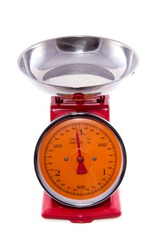 Free Red Orange Kitchen Scale Royalty Free Stock Photo - 16491055