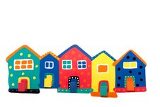 Free Colorful Terraced Wooden Houses Stock Photography - 16491122