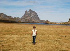Free Small Girl Walking At Anayet Plateau Stock Image - 16491161