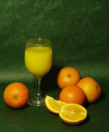 Free Orange Juice Display Stock Images - 16492084
