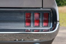 Free Rear Taillight On Grey Classic Stock Image - 16492511