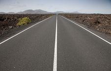 Road On Lanzarote Royalty Free Stock Photo