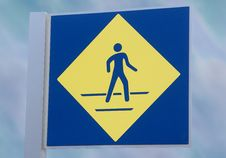 Free Pedestian Walking Sign Stock Photography - 16493292
