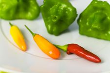 Free Chilli Pepper On A Table , Close Up Royalty Free Stock Photo - 16493615