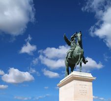 Free King Louie XIV Statue Royalty Free Stock Photography - 16494047