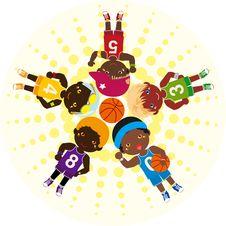 Free Basketball Teams Stock Photography - 16494172