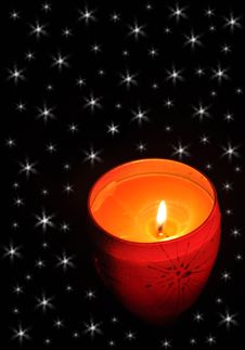 Free Candle In The Dark Stock Photography - 16494432