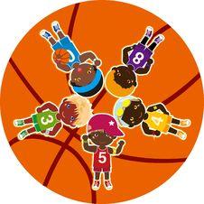 Basketball Teams Royalty Free Stock Images