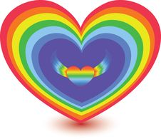 Heart Rainbow Stock Images
