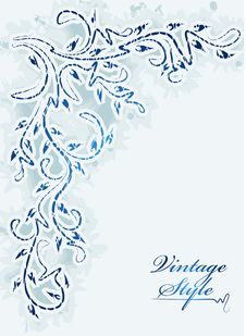 Free Vintage Winter Corner With Shadow. Royalty Free Stock Photos - 16494838