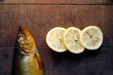Free Bloater And Lemon Royalty Free Stock Photo - 16495115