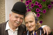 Free Old Couple Portrait Royalty Free Stock Image - 16495436