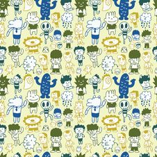 Free Seamless Cartoon Pattern Stock Photos - 16495443