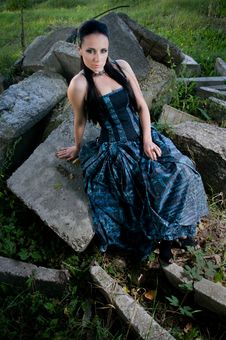 Free Gothic Lady Royalty Free Stock Photo - 16495785