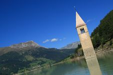 Free Passo Resia - Curon Bell Tower Stock Images - 16496364